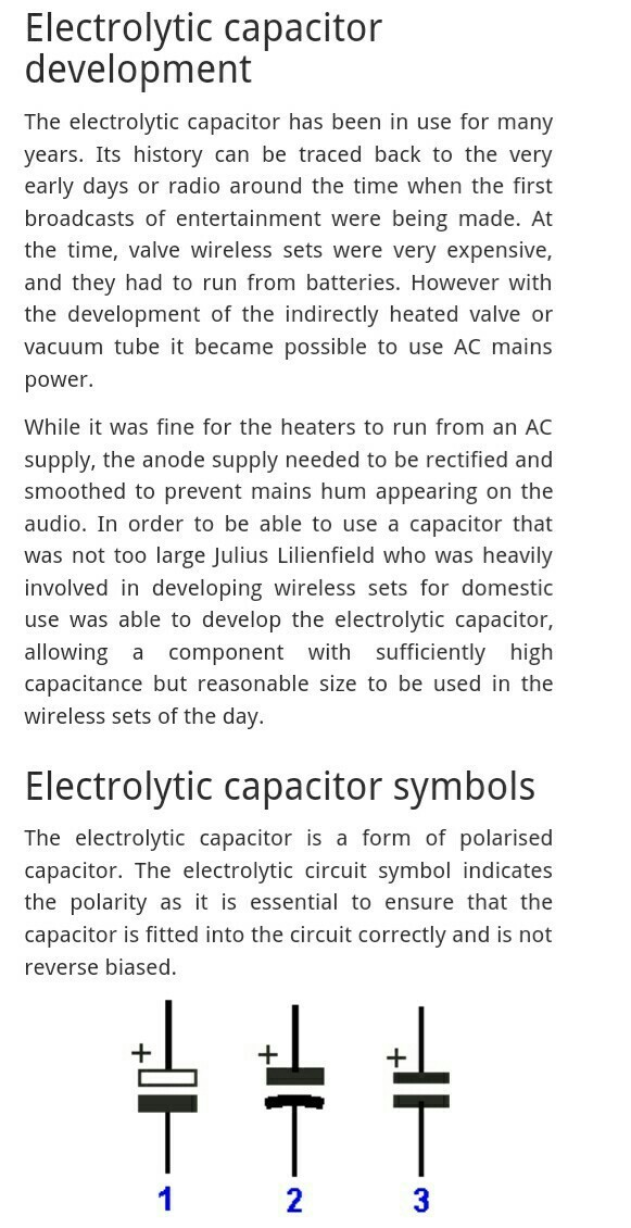 Construction Of Electrolytic Capacitor Brainly