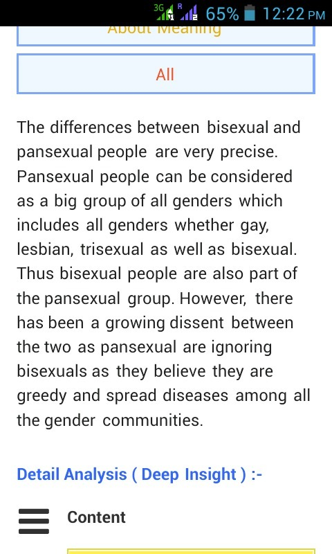 Trisexual vs pansexual