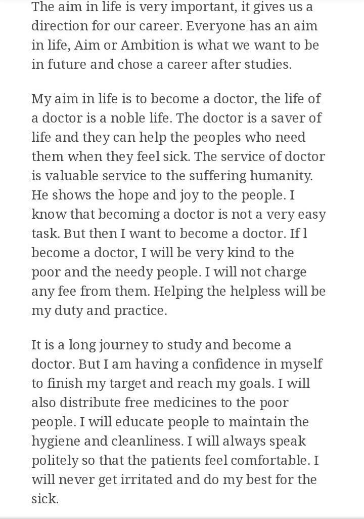 essays on ambition to become a doctor
