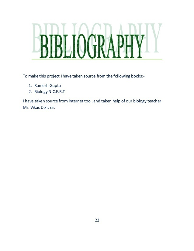 What Is Bibliography In Projects Of Board Brainly In