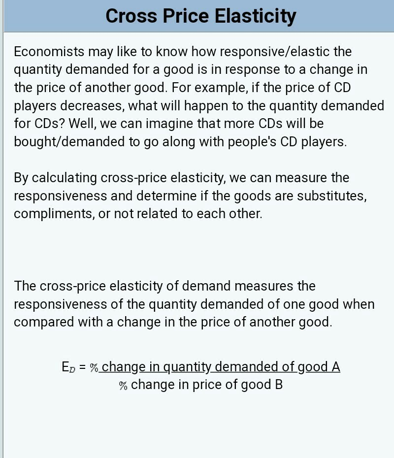 What Is Cross Price Elasticity Explain It With Example