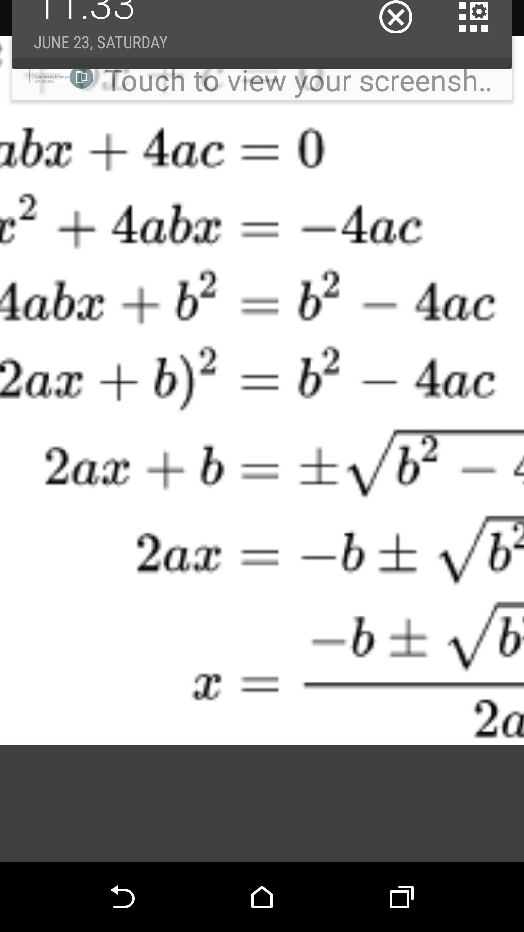 Quadratic formula with irrational roots calculator - Brainly in