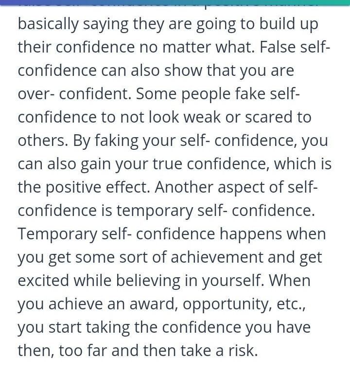 Essay On Self Confidence Is The Breath Of Life  Brainlyin