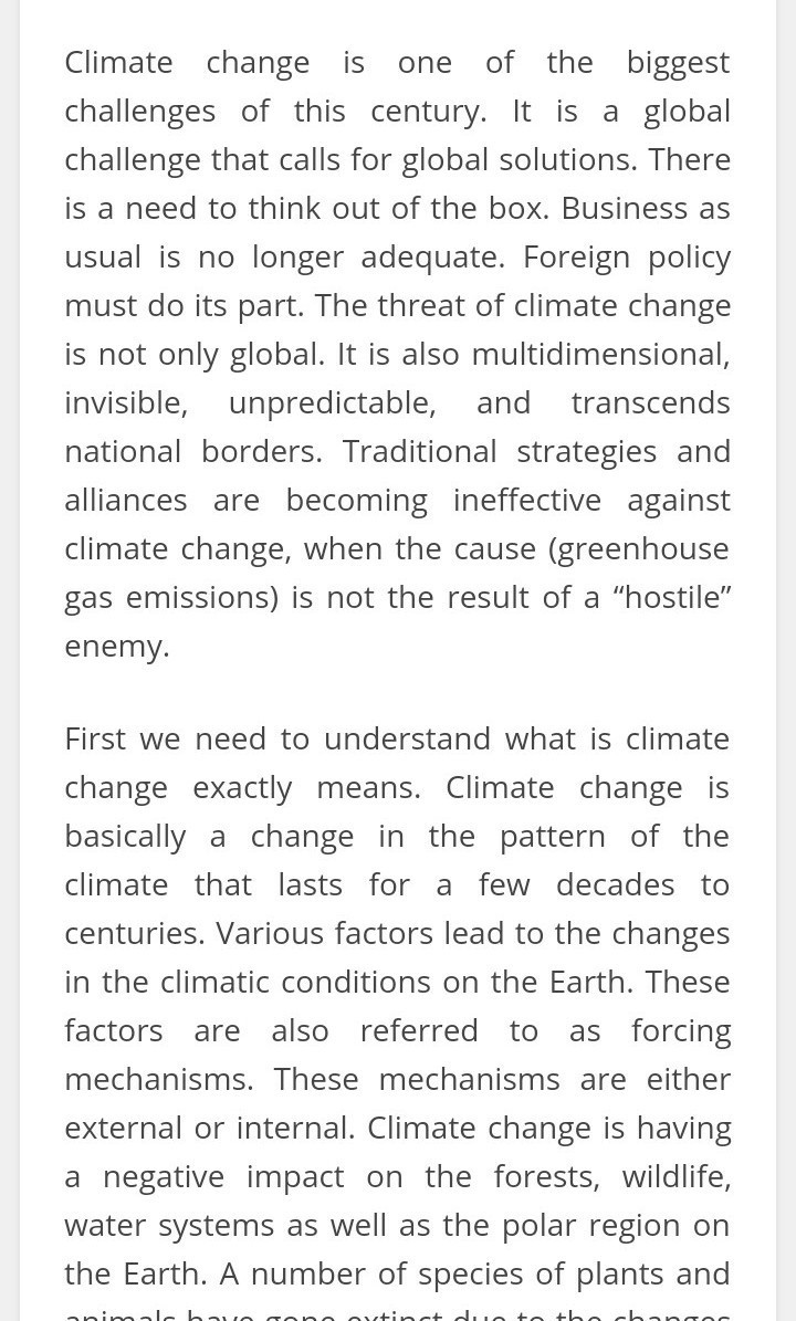 Why Climate Change Is Important For Indias Foreign Policy Write  Download Jpg Online Fiction Writing also English Essay Short Story  Business Essay Topics