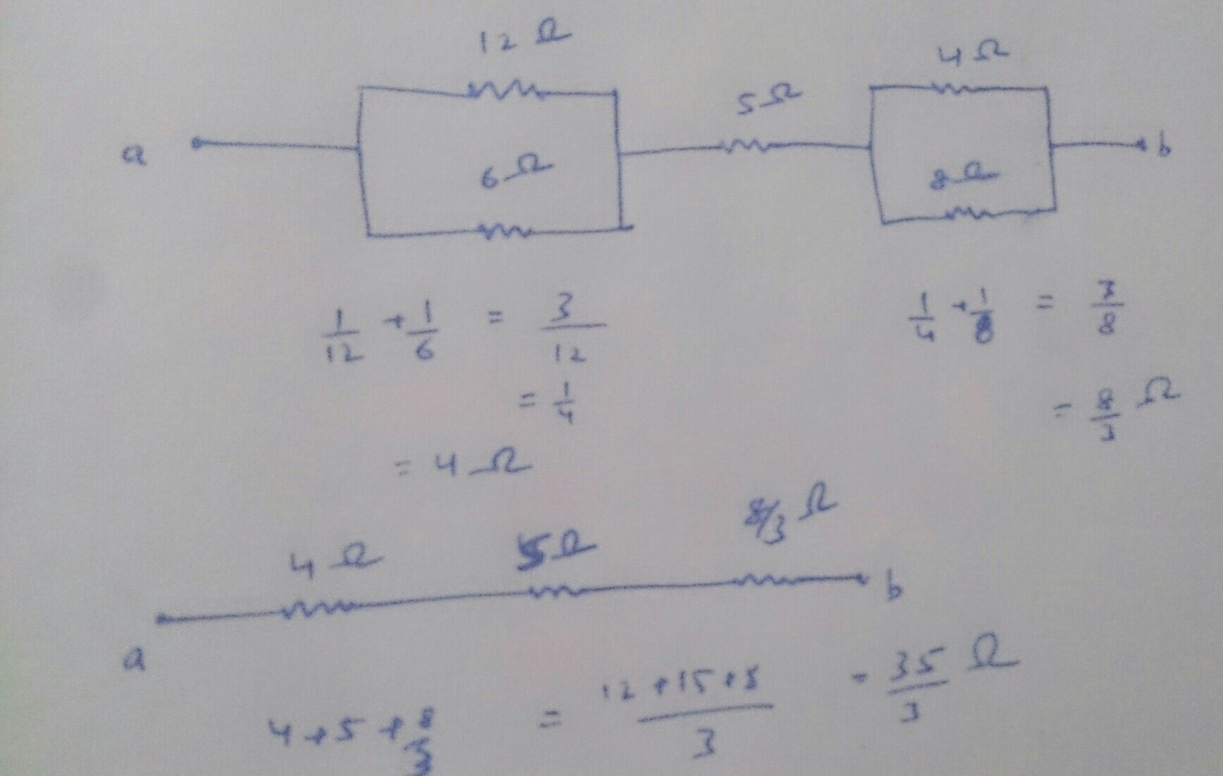 Calculate The Net Resistance Between The Points A And B In