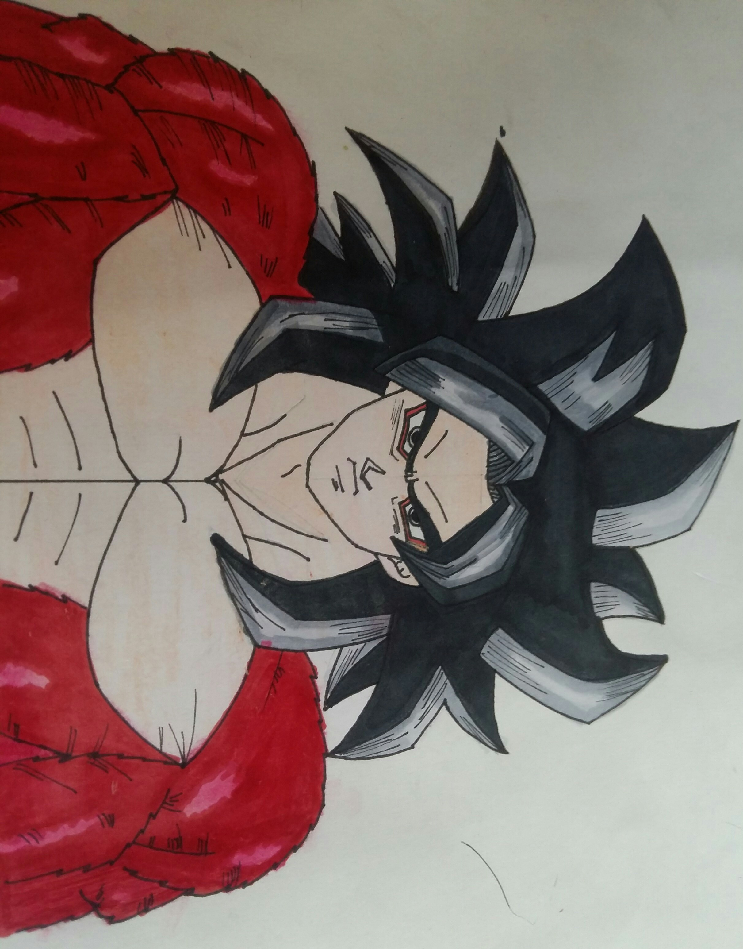 Hey Guys My Goku Super Saiyan 4 Drawing Is Almost Complete