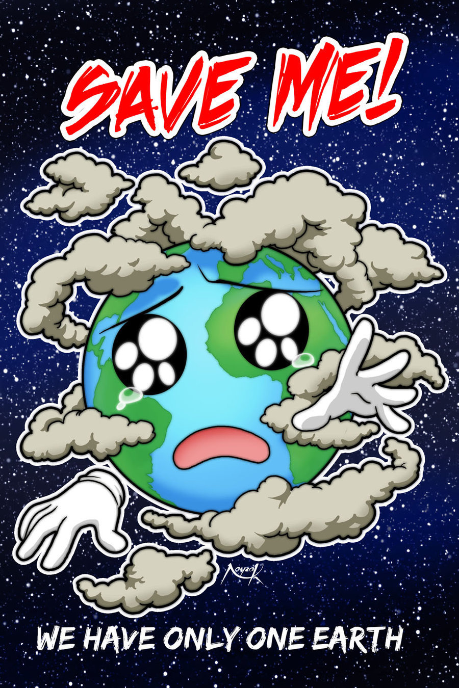 Prepare A Poster On SAVE THE EARTH Behalf Of The Pollution