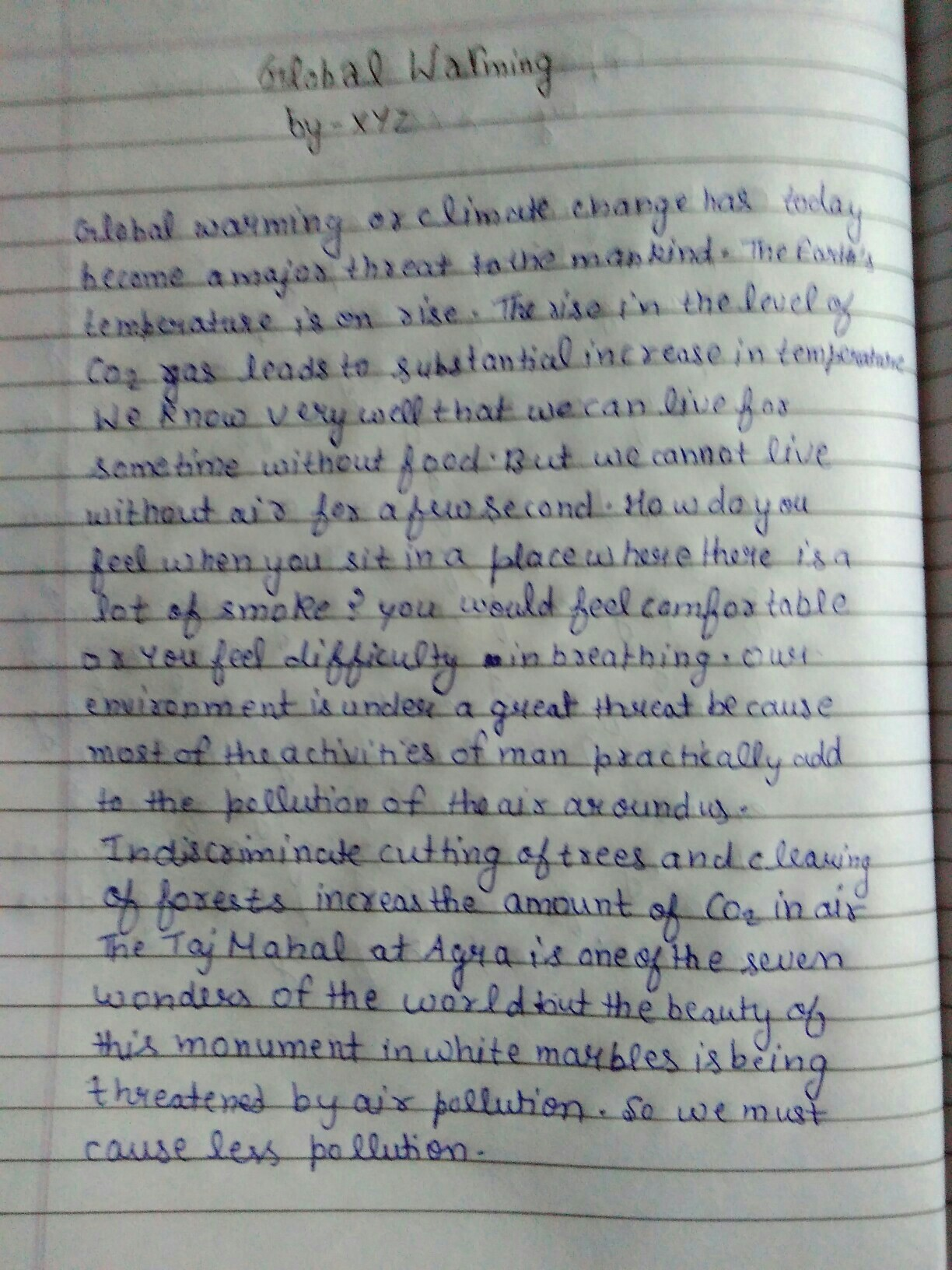 Abstract paper writing example
