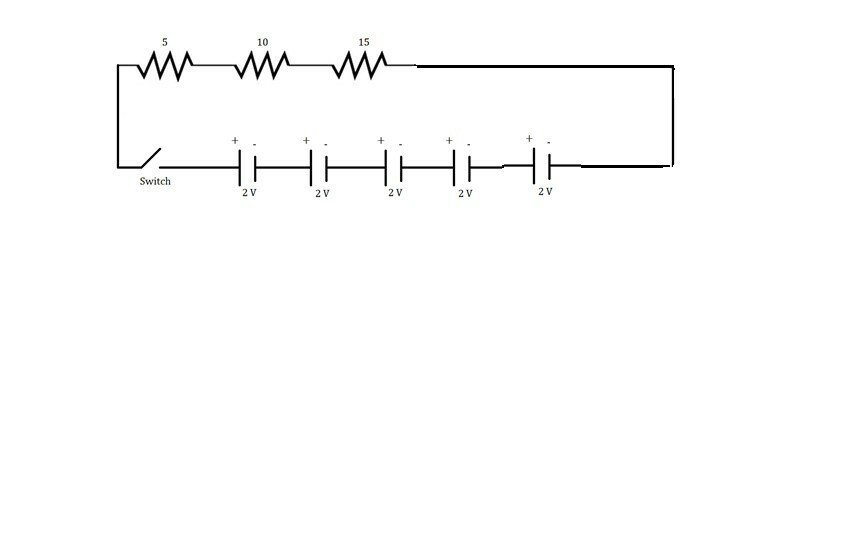 Draw A Schematic Diagram Of A Circuit Consisting Of 24v Battery A