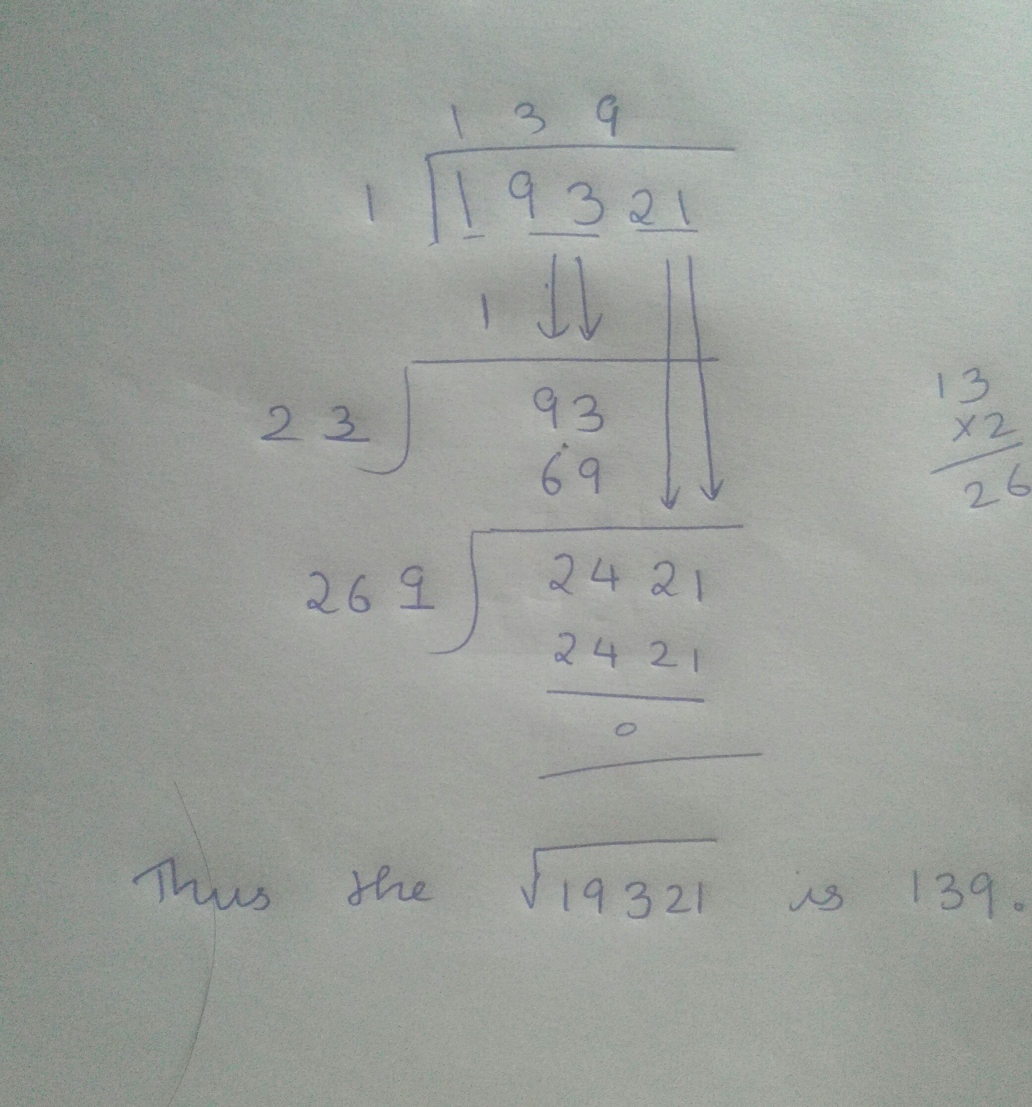 Find the square root of 64009 by division method - Brainly.in