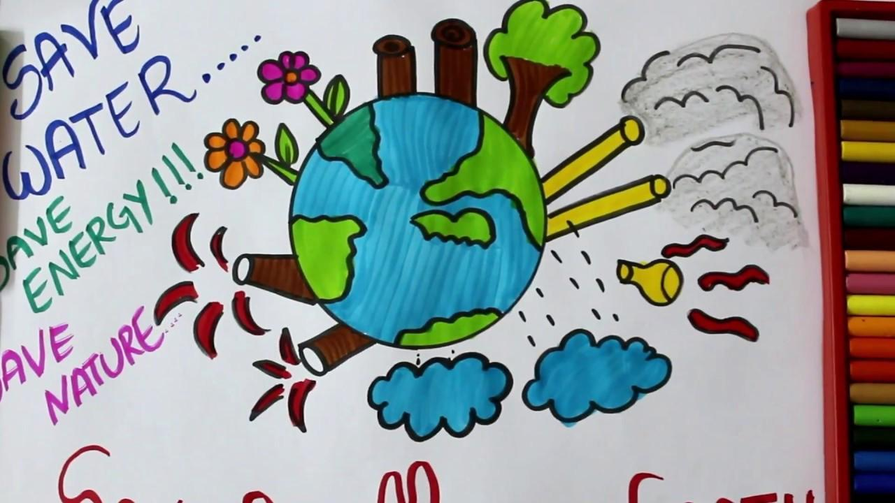 Please Send Mother Nature Drawing For Kids Competition