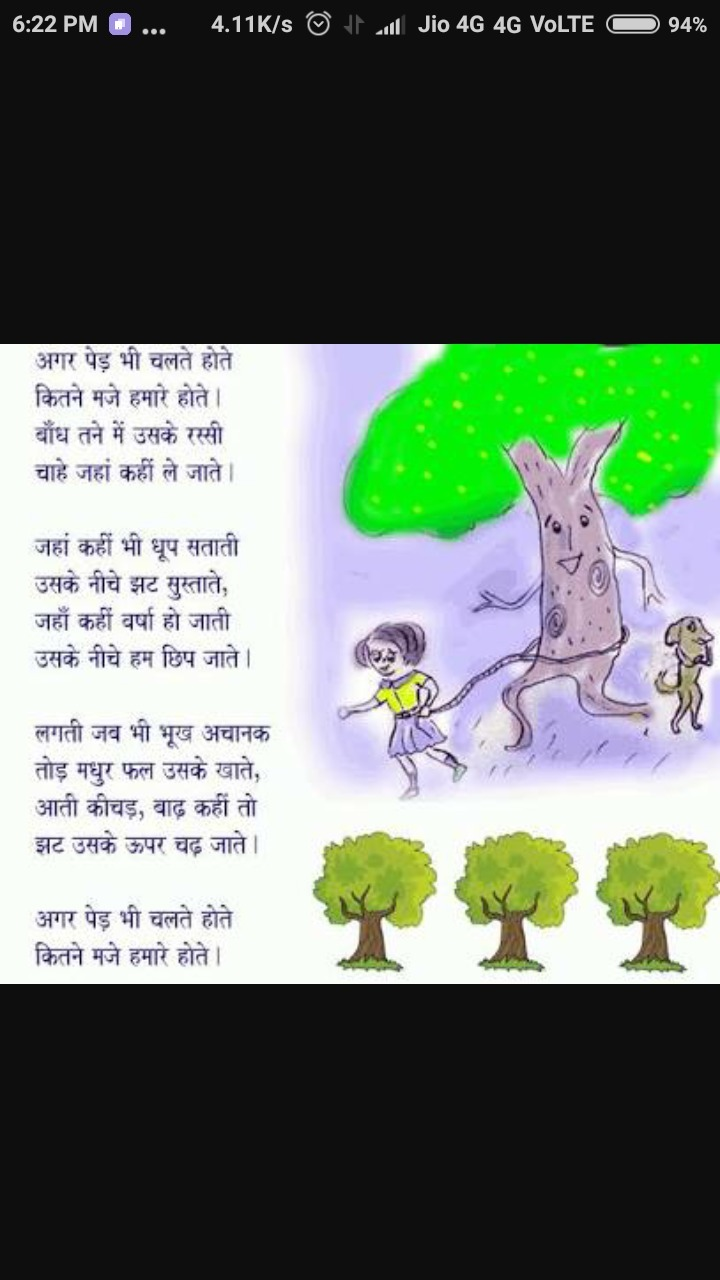 Some Hindi poems on nature for class 5 - Brainly in