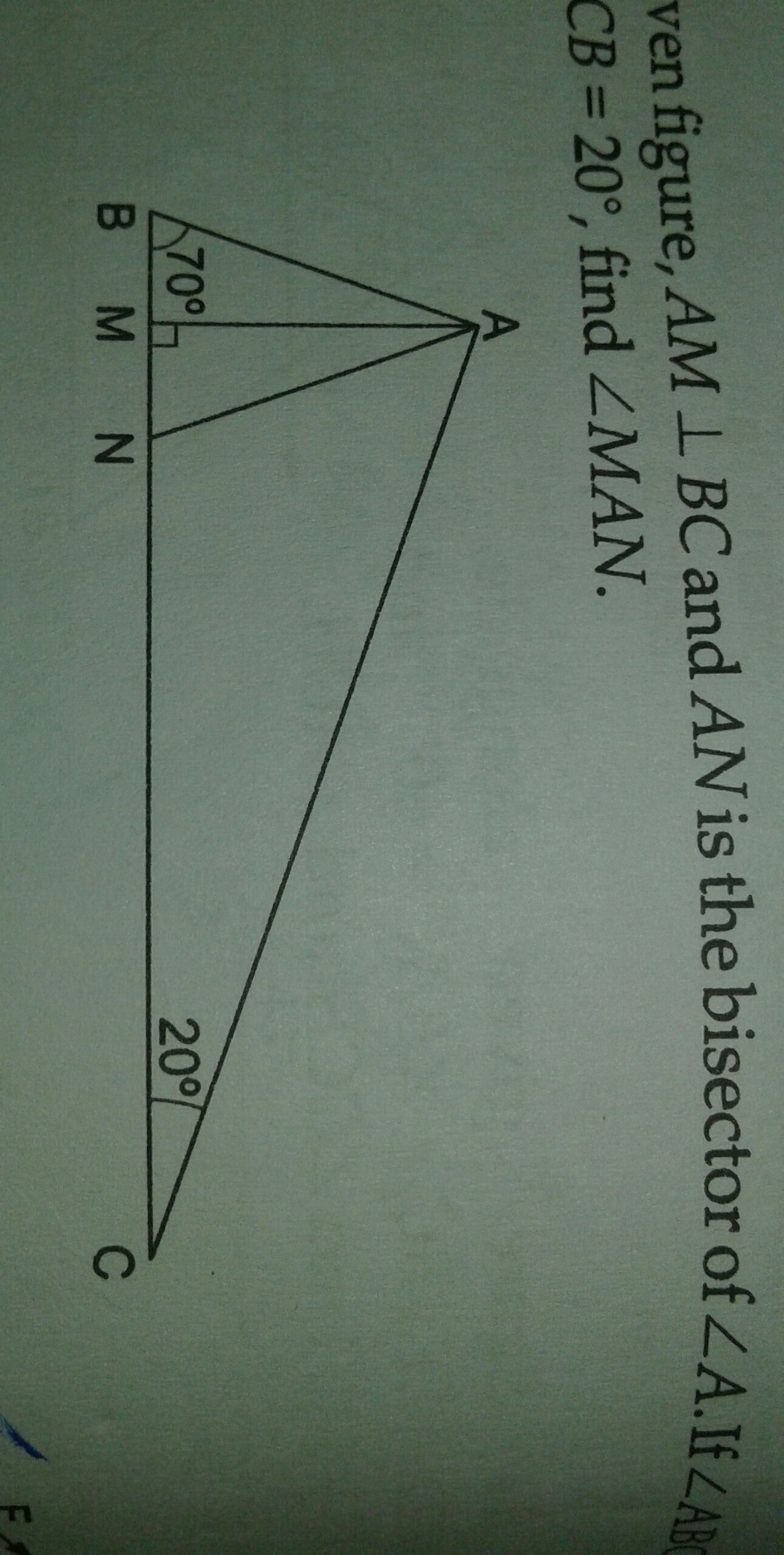 In The Given Figure Ab Is Perpendicular To BC And AD Bisector