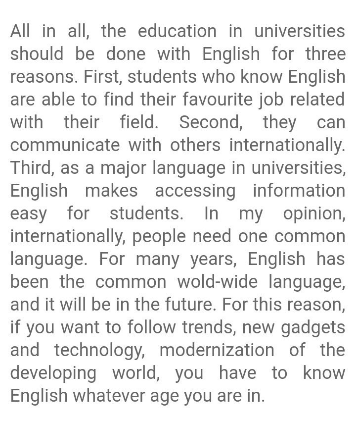 essay on importance of english language in  words  brainlyin