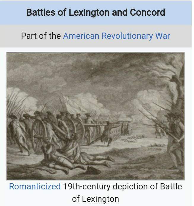 The Outcomes Of The Battles Of Lexington And Concord
