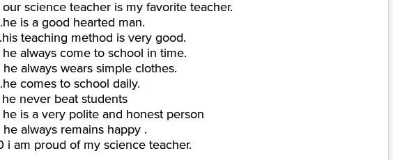 essay on my best teacher in five points   brainlyin