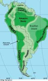 Brazilian Highlands Showing On Map Brainly In