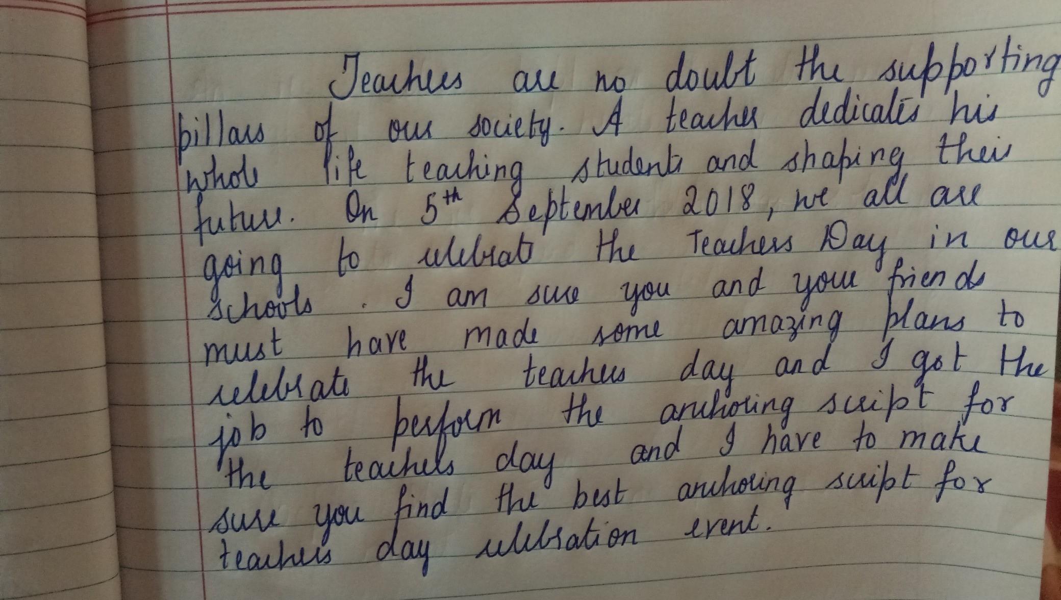 anchoring teachers day programme