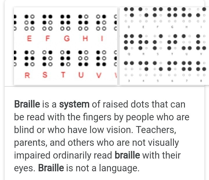 Braille Reading Answers