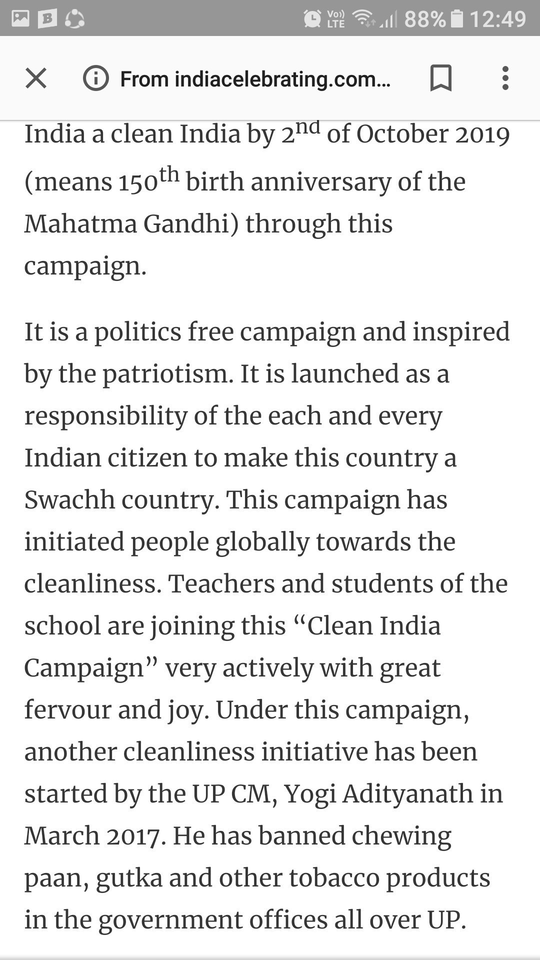 Clean India Essay In English  Brainlyin