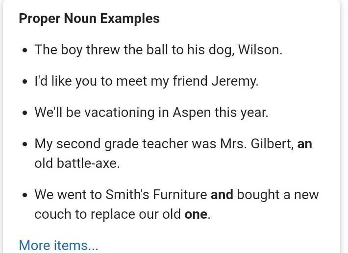 give example sentences in proper noun - Brainly.in
