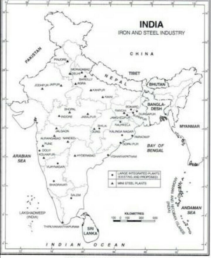 Iron and steel industries in india in a outline map - inly.in India Map With Desh on map east africa, game with india, map singapore, map saudi arabia, map of india landforms, map the us, map sri lanka, globe with india, map south korea, map of india map, map west asia, plain map of india, map south africa, map nigeria, map spain, printable map of india, map japan, map southeast asia, map russia, business with india,