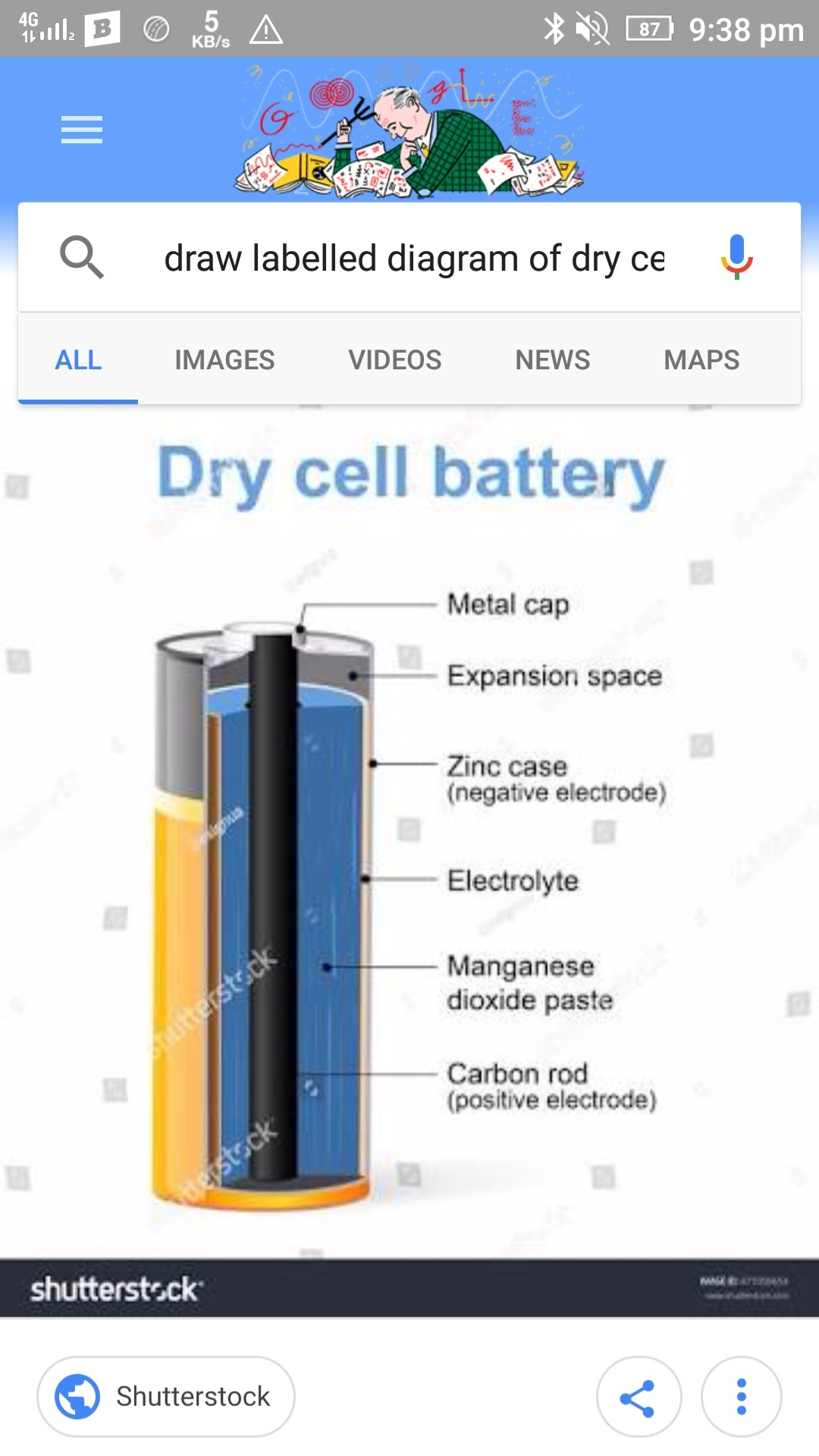 Draw labelled diagram of dry cell brainly download jpg ccuart Gallery
