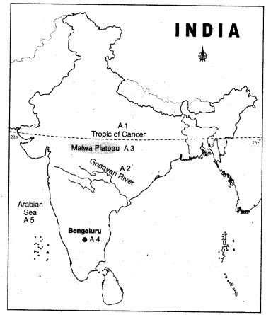 On map of India,mark all the important parallels of latitude ...