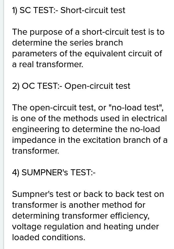 Non-loading heat run test on transformers is performed by means of