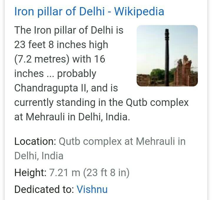 art and architecture of Iron Pillar Mehrauli - Brainly.in