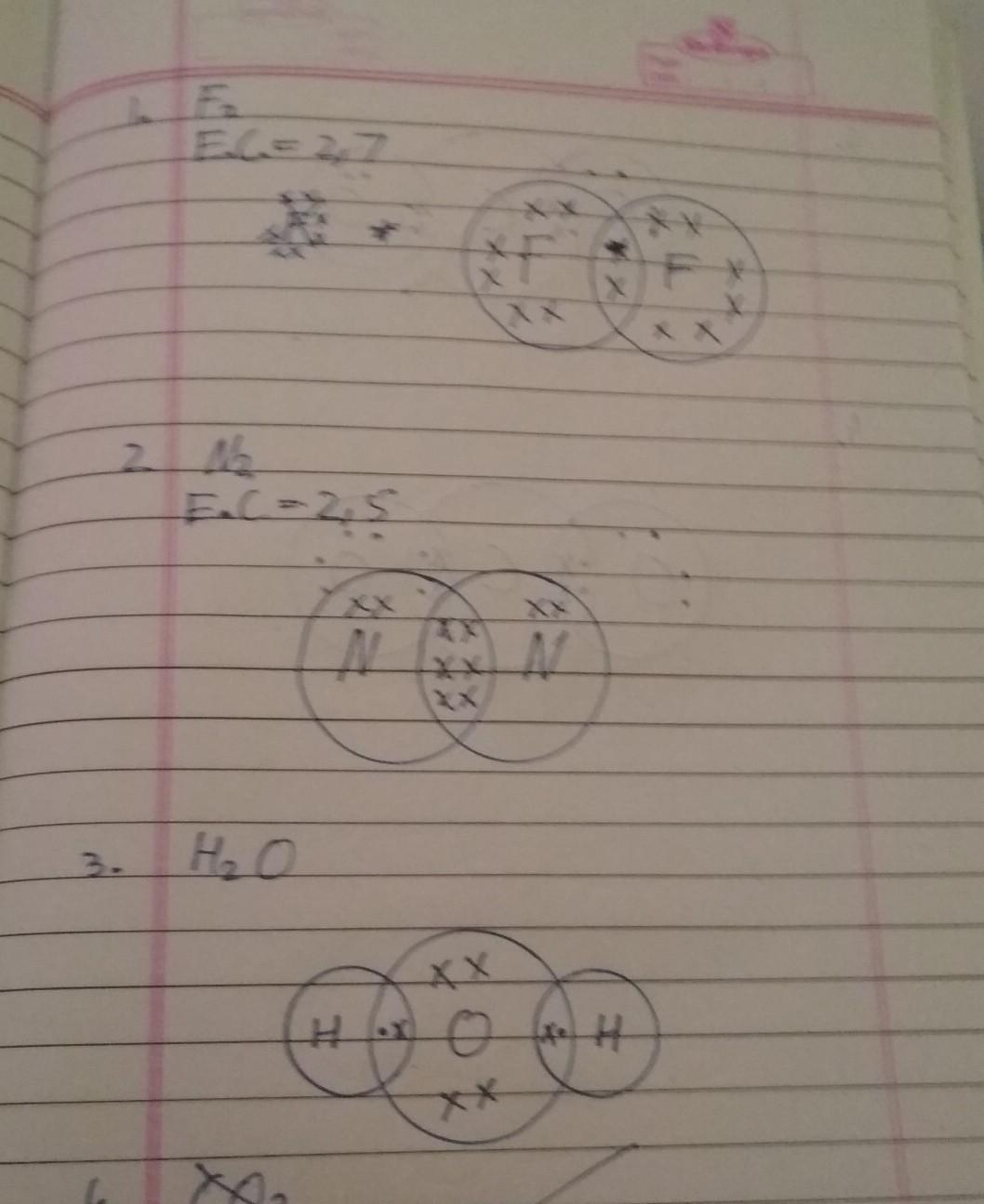 Draw The Electron Dot Structure Of Follwing Compound F2 N2 H2o Co2 Brainly In