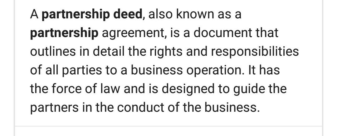 What Is A Partnership Deed Brainly