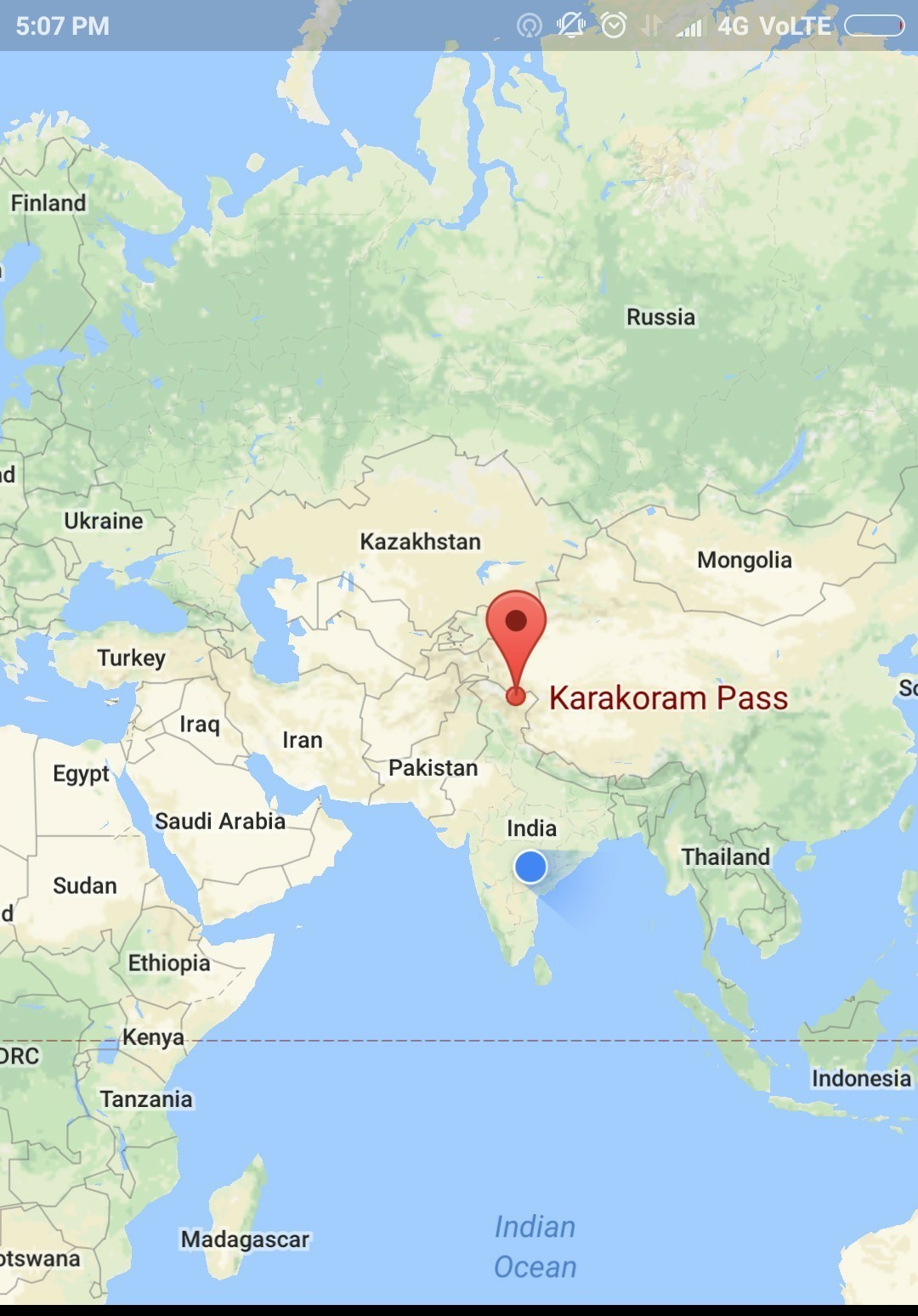 Mark the following on an outline map of India: Karakoram ...
