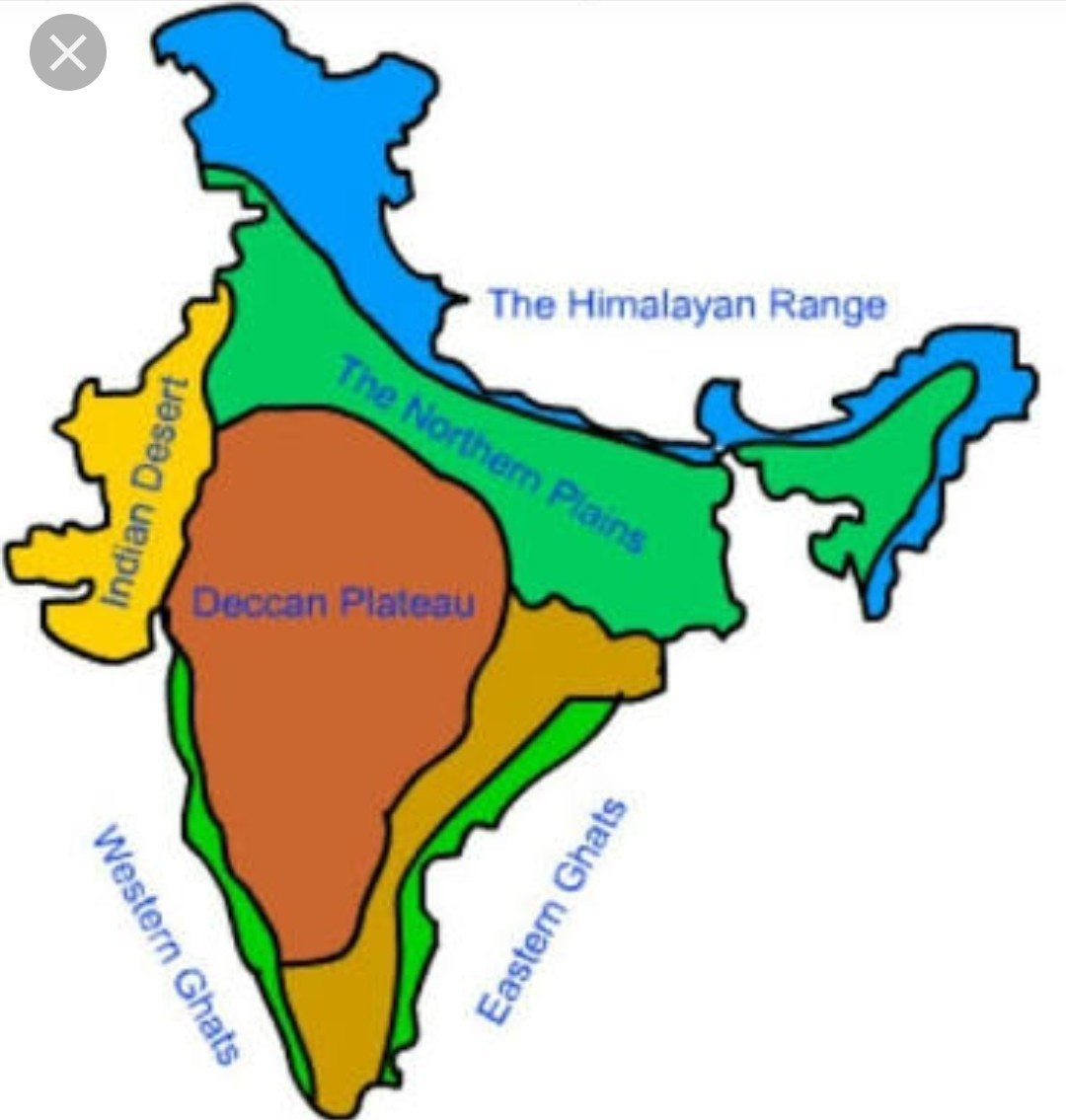 Deccan Plateau Map Where is Deccan Plateau in India map   Brainly.in