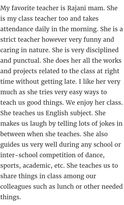 my favourite teacher essay twenty hueandi co my favourite teacher essay