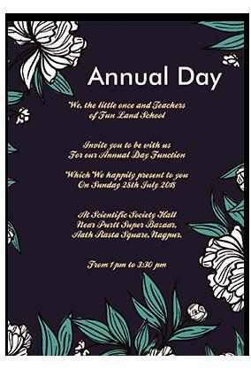 Invitation Of Annual Day In Our School Brainly In
