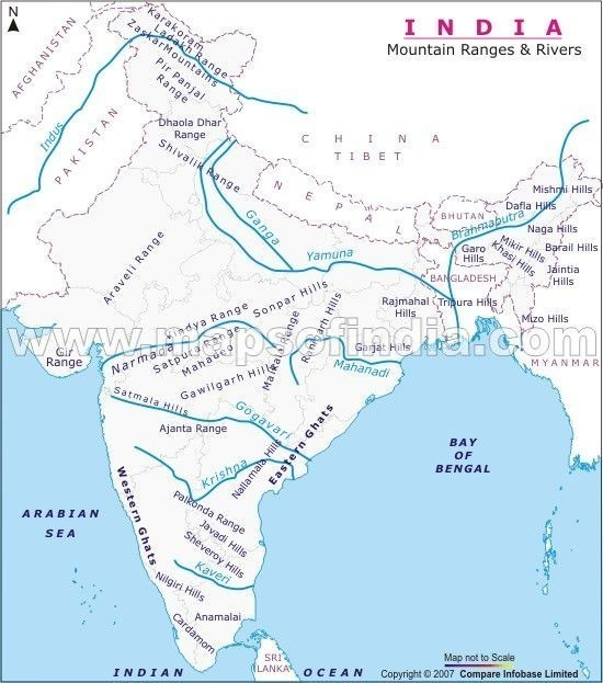 Locate The Rivers Ganga Yamuna And Indus On The Map Of India