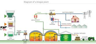 Explain Biogas Plant With A Neat Diagram Brainlyin