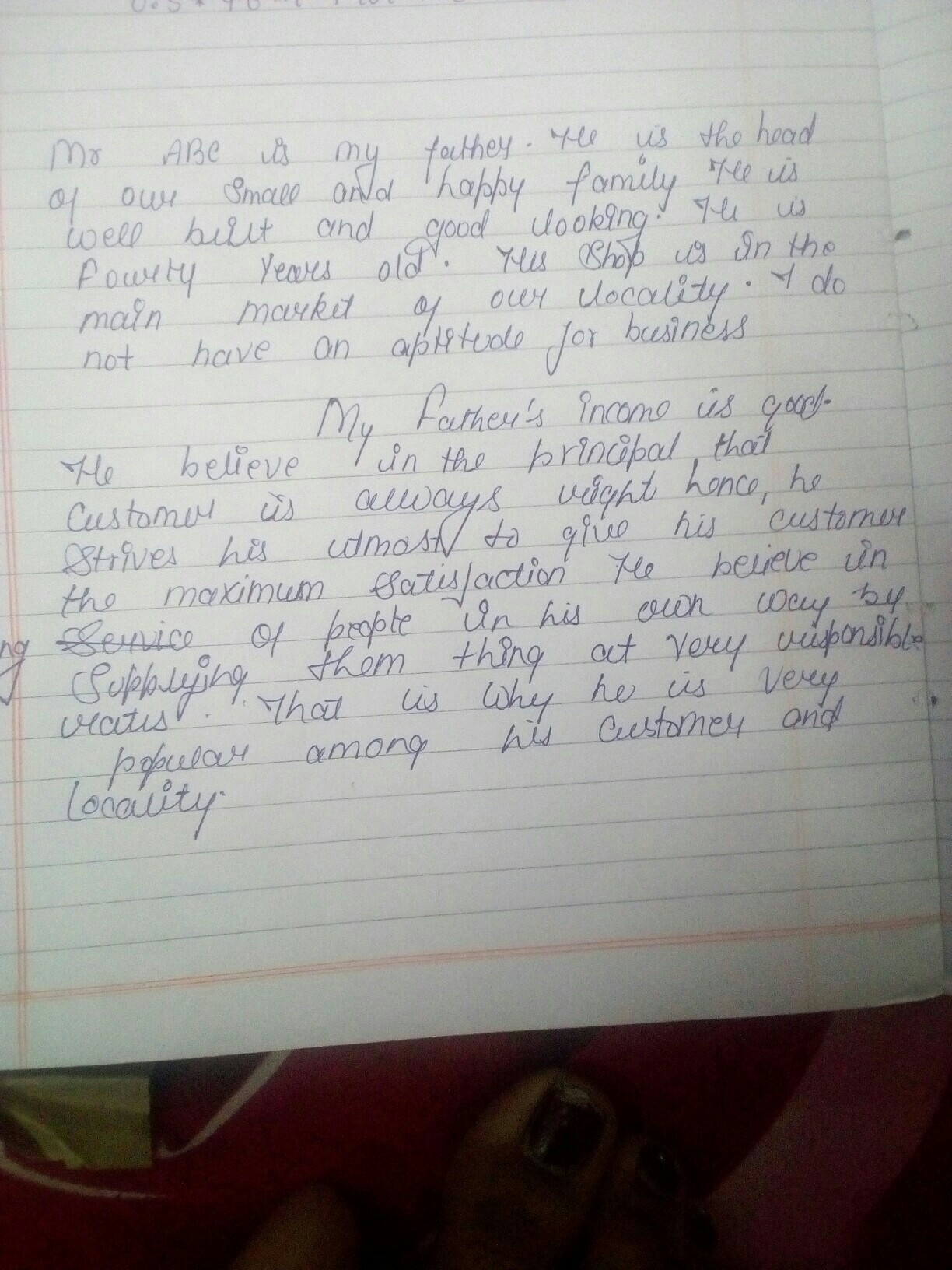 write an essay on my father occupation in  words   brainlyin essay on my fathers occupation