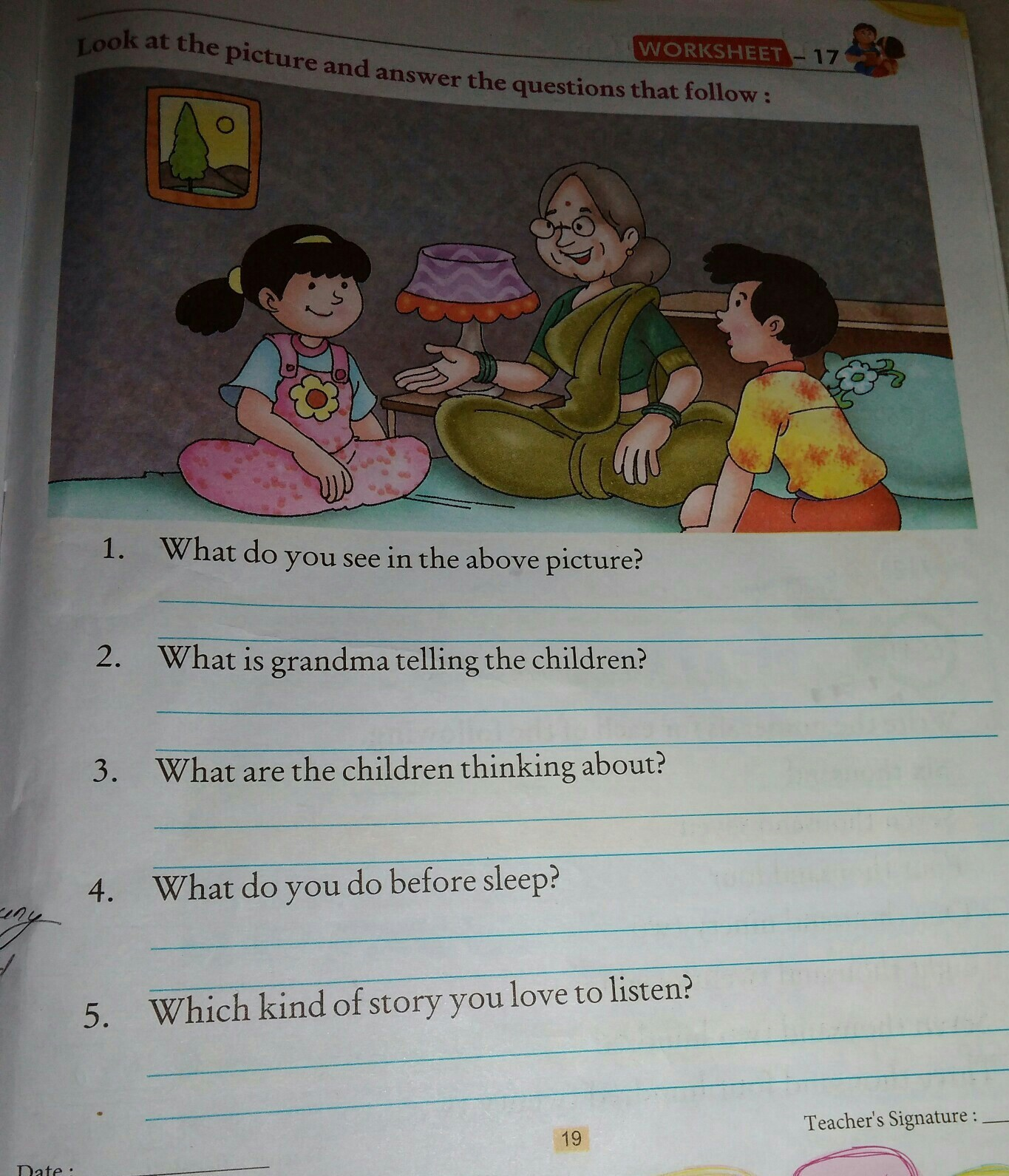 look. at the picture and answer the questions that follows ...