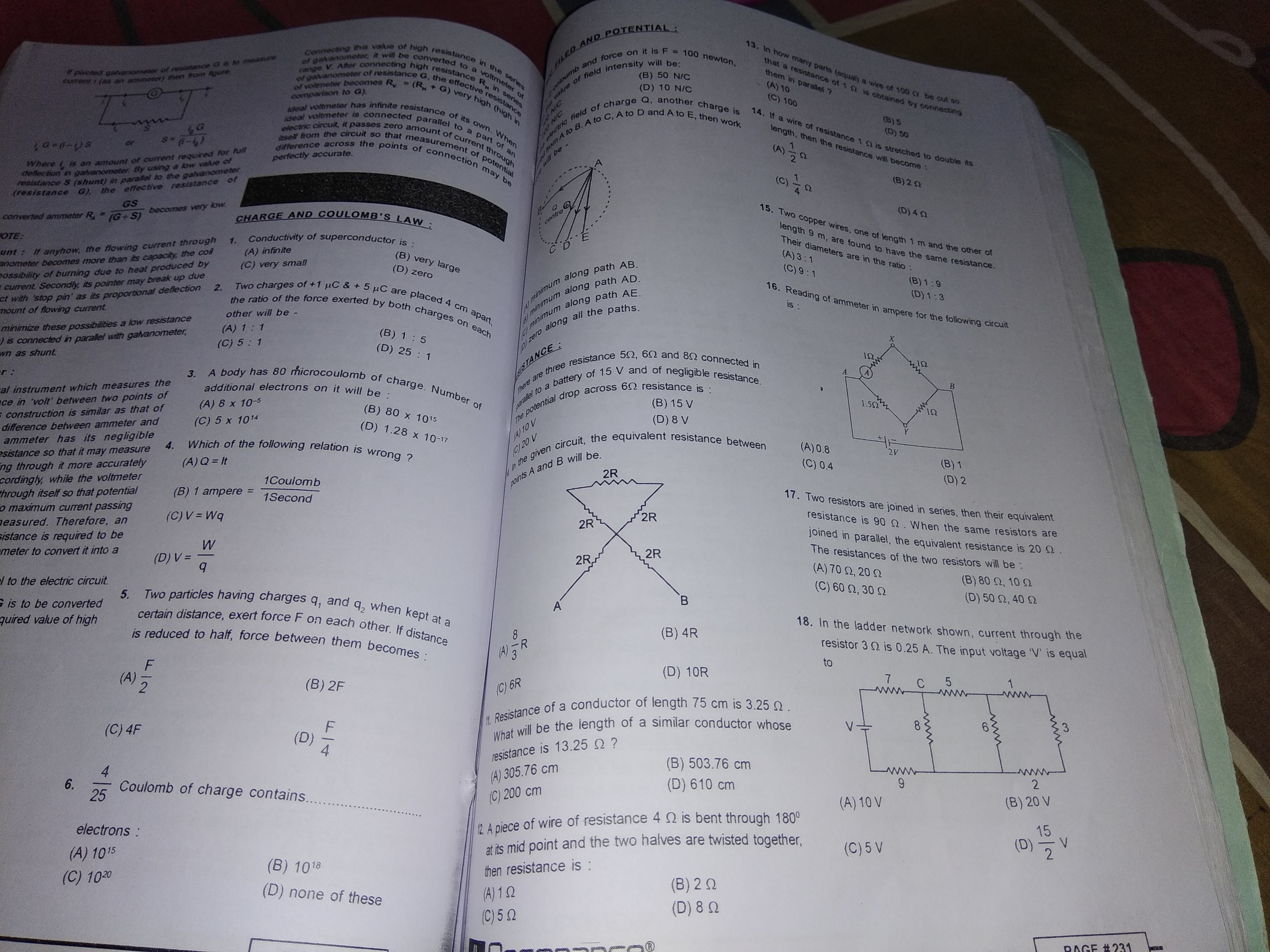 gave me some numericals from ch 1 electricity (physics