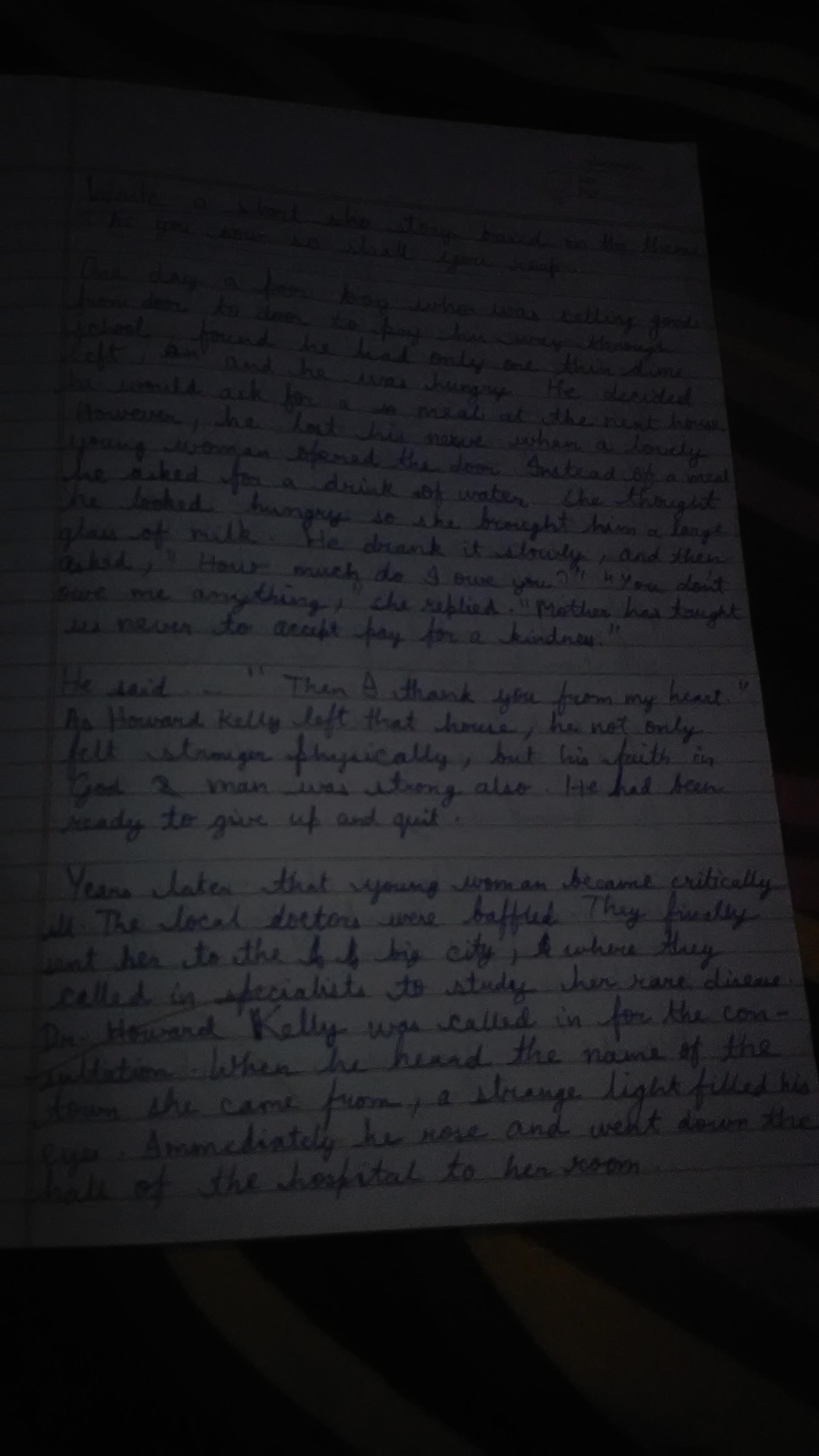 Essay on topic as you sow so shall you reap - Brainly.in