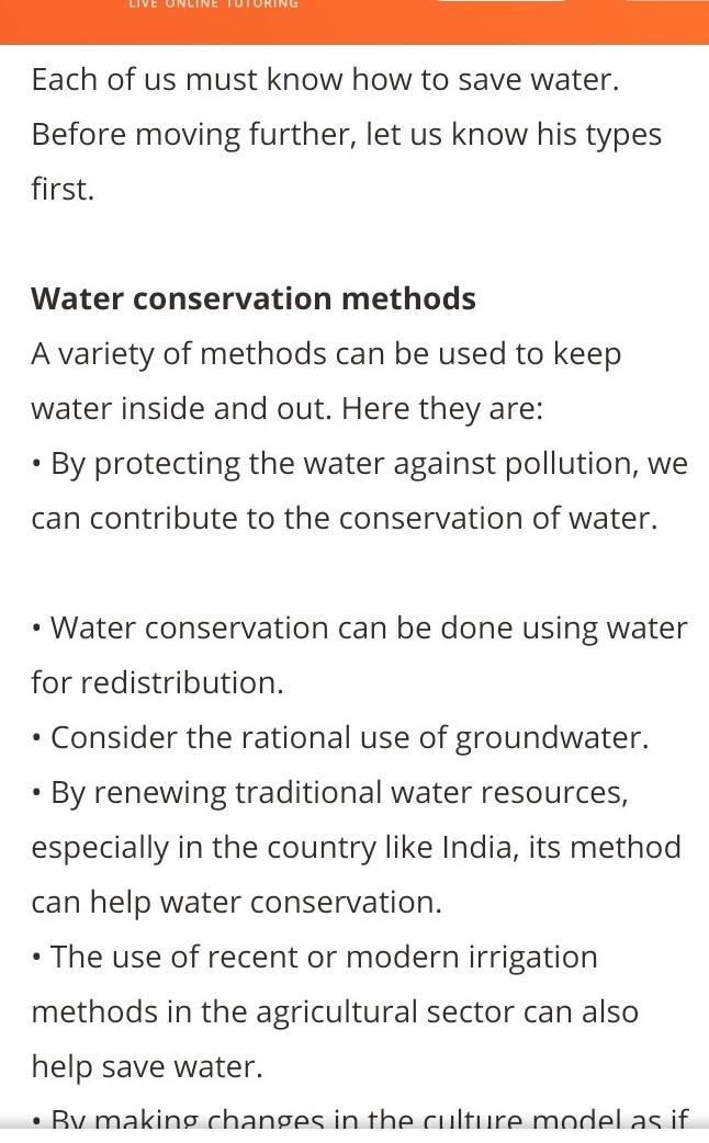 Write a speech on water conservation - Brainly in