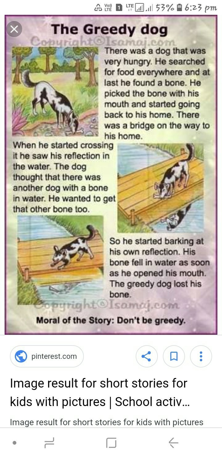 greedy dog story with pictures