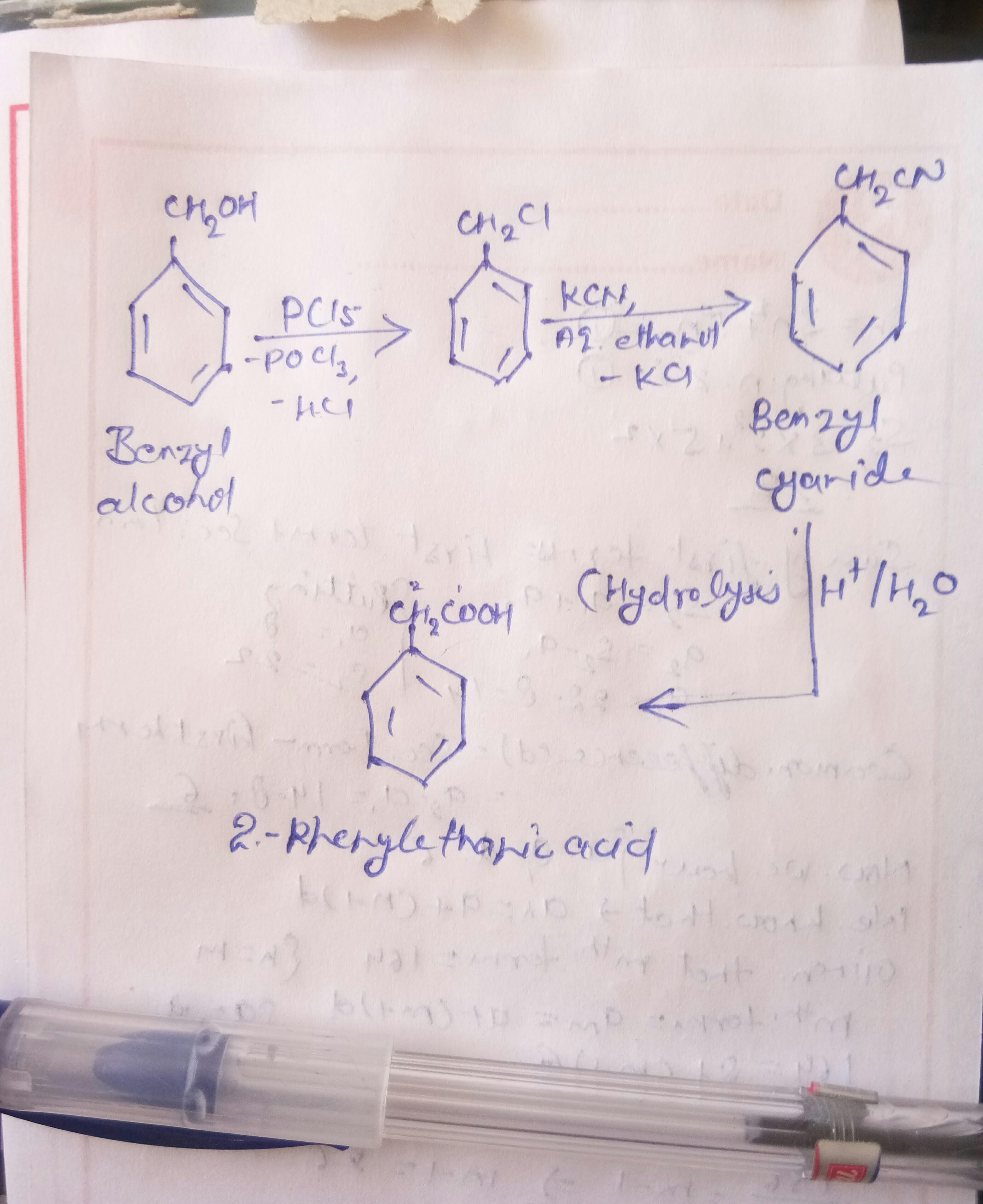 Ammco bus : Phenyl ethanoic acid structure