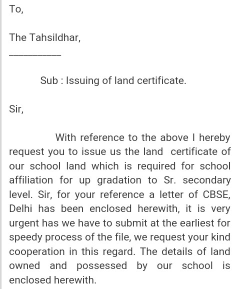 How to write a letter to tahsildar in english brainly download jpg altavistaventures Gallery