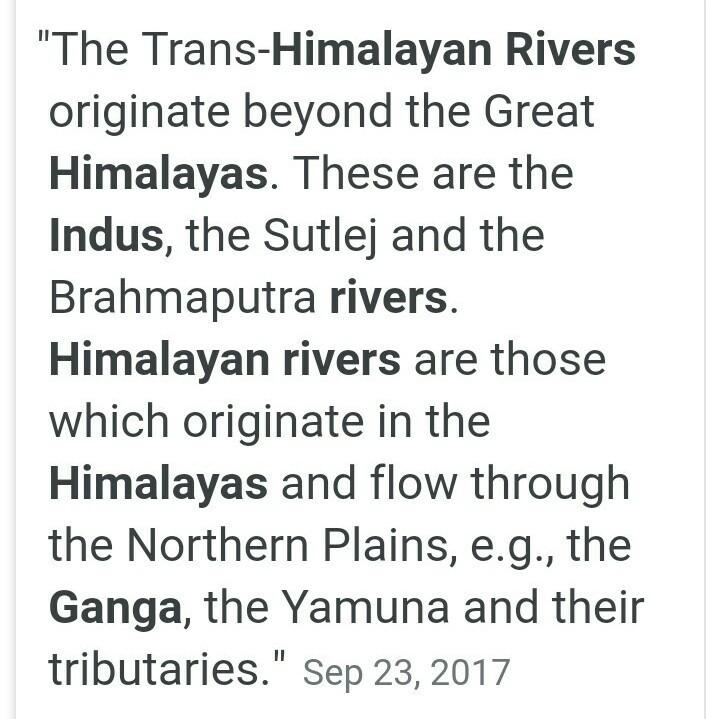 trans himalayan river