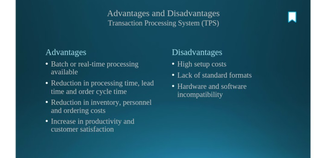 What Are The Benefits And Limitations Of Transaction Processing - Document processing system