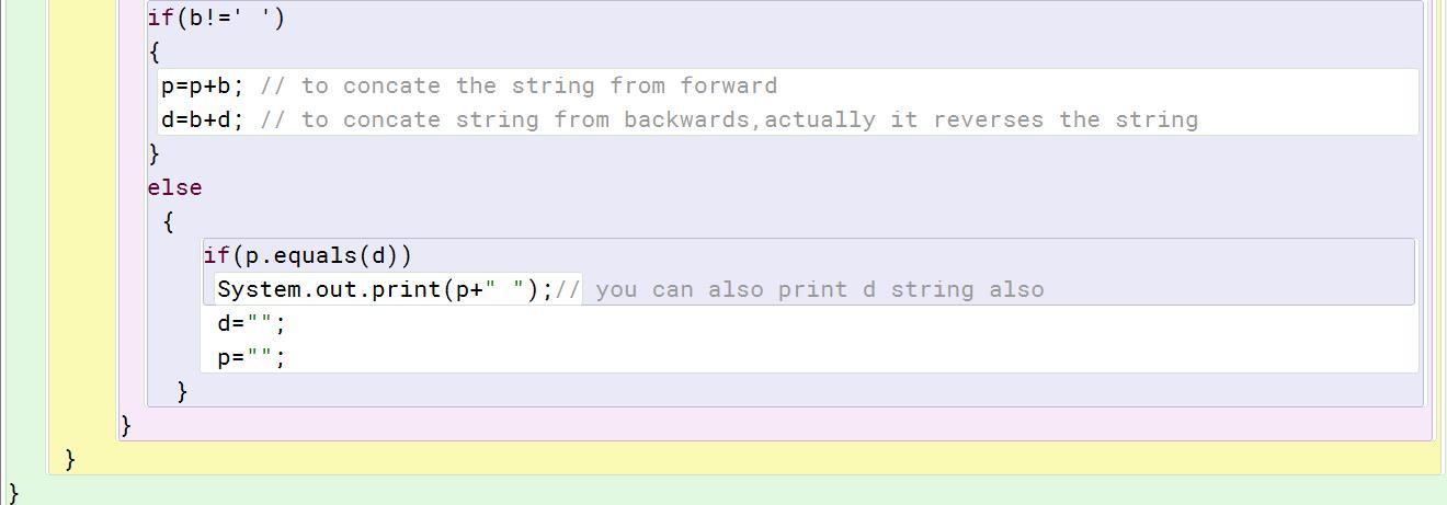 Write a program in Java to enter a String and display all the