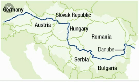 Show the location of River Danube in a World Map. - inly.in Danube Map on